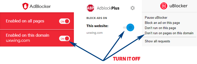 How to turn off Ad Blocker